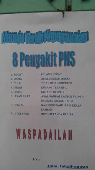 8 penyakit PNS